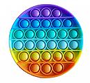 Антистресс сенсорная игрушка Pop It Бесконечная пупырка антистресс  Разноцветный круг, фото 4