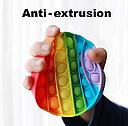 Антистрес сенсорна іграшка Pop It Нескінченна пупырка антистрес Різнобарвний коло, фото 7