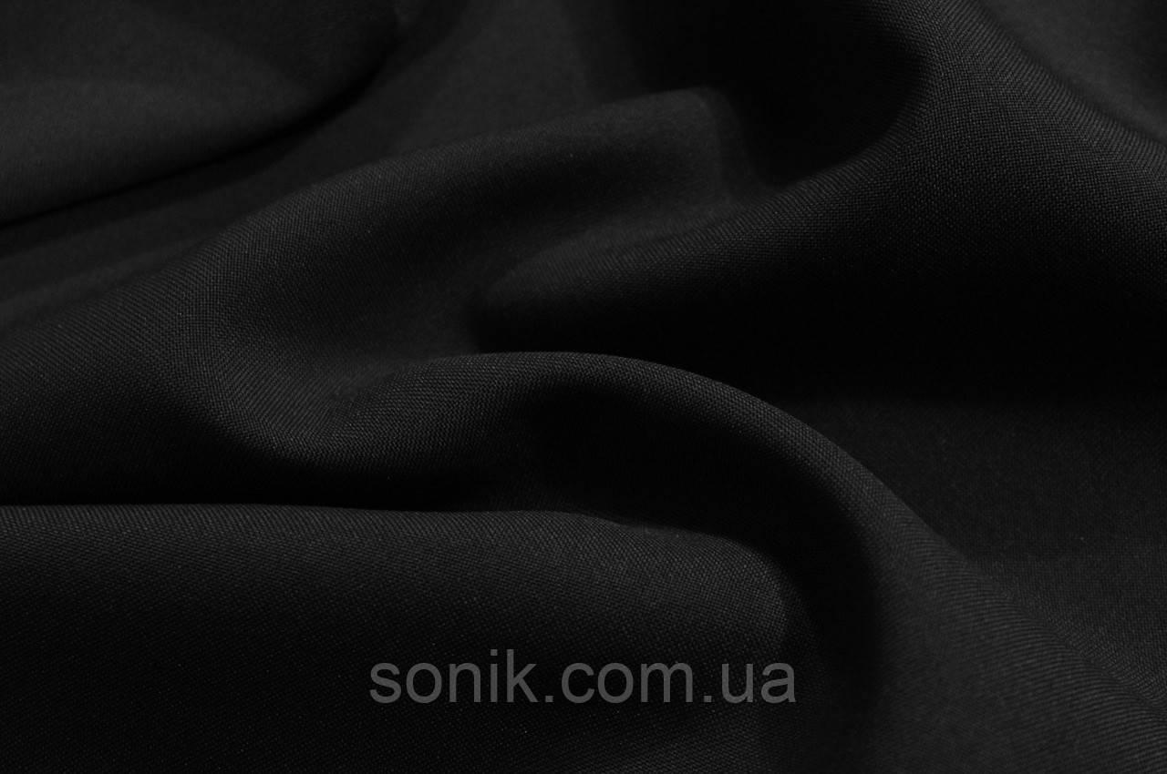 Габардин черный ш.150 на метраж