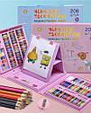 Набір молодого художника для малювання та творчості 208 елементів, фото 2