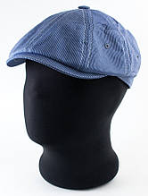 Кепка мужская тонкий хлопок 56 57-58 59 цвет синий в мелкую полоску