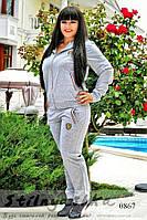 Спортивный костюм большого размера Ferrari серый, фото 1