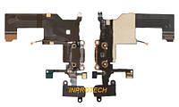 Шлейф Apple iPhone 5 с разъёмом зарядки, разъёмом наушников и микрофоном Black