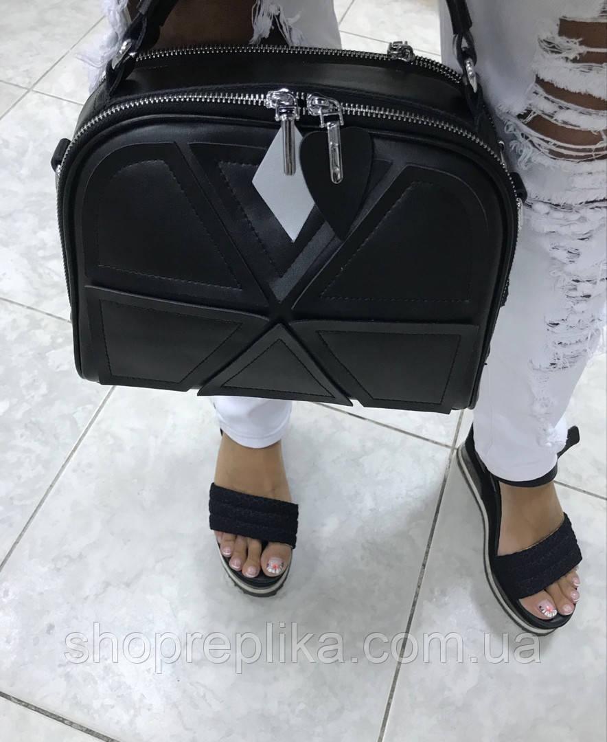 Шкіряна жіноча сумка чорна жіноча сумка з натуральної шкіри модна через плече кроссбоди