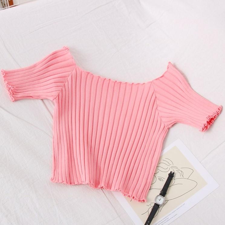 Рожевий жіночий стильний кроп-топ