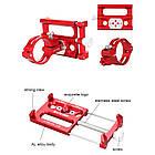 """Велосипедный держатель для смартфона 3,5-6,2"""" алюминиевый с креплением на руль/вынос GUB G-86 красный, фото 4"""