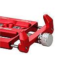 """Велосипедный держатель для смартфона 3,5-6,2"""" алюминиевый с креплением на руль/вынос GUB G-86 красный, фото 5"""