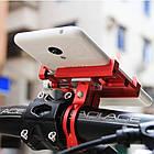 """Велосипедный держатель для смартфона 3,5-6,2"""" алюминиевый с креплением на руль/вынос GUB G-86 красный, фото 2"""