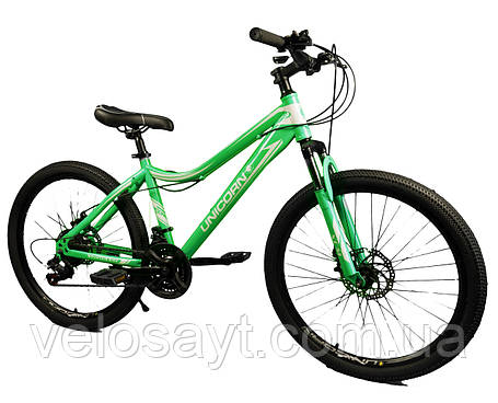 "Велосипед Unicorn - smart rider 24"" размер рамы 15"" бирюзовый, фото 2"