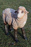 """Садовая фигура """"Овца"""" средняя коричневая 42см*50см"""