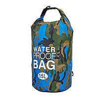 Гермомішок водонепроникний ZELART Waterproof Bag Об'єм 15л PVC Камуфляж (TY-6878-15)