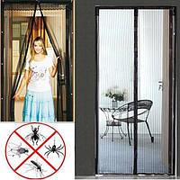 Антимоскитная шторка на дверь Мagnetic Mesh, размер 200х110см - черная