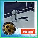 Латунный кухонный однорычажный смеситель для кухни на мойку Haiba FABIO 004 (HB0771) (излив 22 см), фото 3