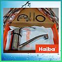 Латунный кухонный однорычажный смеситель для кухни на мойку Haiba FABIO 004 (HB0771) (излив 22 см), фото 4