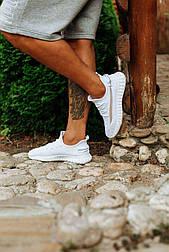 Мужские белые кроссовки Изики мокасины в сеточку  (Замеры в описании)