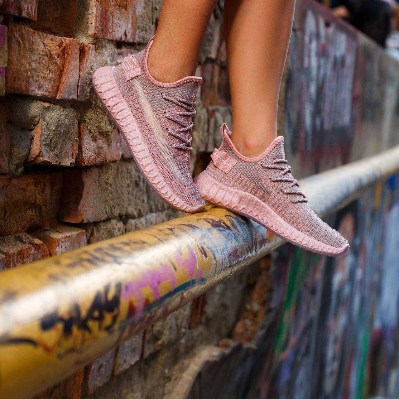Женские летние розовые кроссовки в сеточку Изики (Замеры в описании)