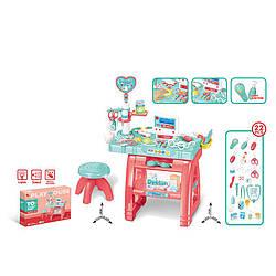 Набор доктора детский со столиком и стулом (свет,звук,с медицинскими инструментами)