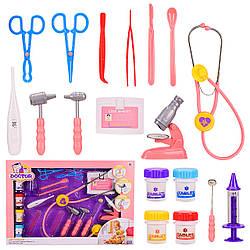 Набор врача игрушка (стетоскоп, шприц, ножницы, инструменты 18 предметов)