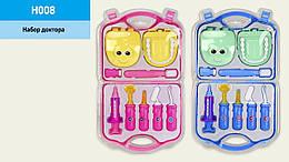 Игрушка стоматолог лечить зубы 2 вида (шприц,челюсть,щетка,аксес,в чемодане)
