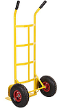 Тележка платформенная ручная грузовая, 150 кг, 1160х550х440 мм. Тележка ручная, фото 3