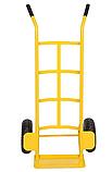 Тележка платформенная ручная грузовая, 150 кг, 1160х550х440 мм. Тележка ручная, фото 4