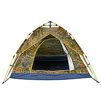 Палатка туристическая для рыбалки ZELART Кемпинговая двухслойная 4 местная автоматическая Лес (TY-0539)