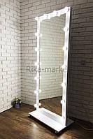 Большое зеркало МДФ с подсветкой в полный рост 1820*600 мм Фози Мини