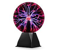 Плазменный шар Тесла 15 см музыкальный ночник плазменная лампа Шар с молниями Plasma ball