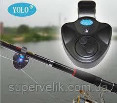 Сигнализатор поклевки черный цвет ,клева Электронный датчик клёва рыбы, свингер кивок