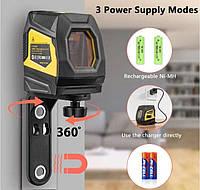 Лазерный уровень нивелир 2 линии Firecore F113XG гарантия  аккумулятор  f 113g зеленый, фото 1