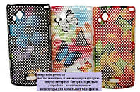 Чехол Samsung S8530. Цветочный принт.