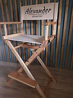 Кресло визажиста, стул складной, деревянный Цвет Орех светлый