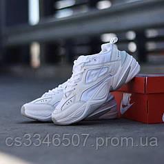 Кожаные кроссовки Nike M2K Tekno White 36-40 р. Белые кроссовки женские Найк М2К Текно
