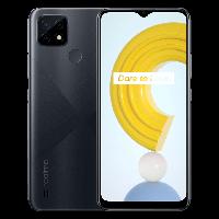 Смартфон с мощной батареей, нфс модулем, сканером отпечатка пальца и 3 камерами Realme C21 RMX3201 4/64 black