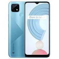 Смартфон с мощной батареей, нфс модулем, сканером отпечатка пальца и 3 камерами Realme C21 RMX3201 4/64Gb blue