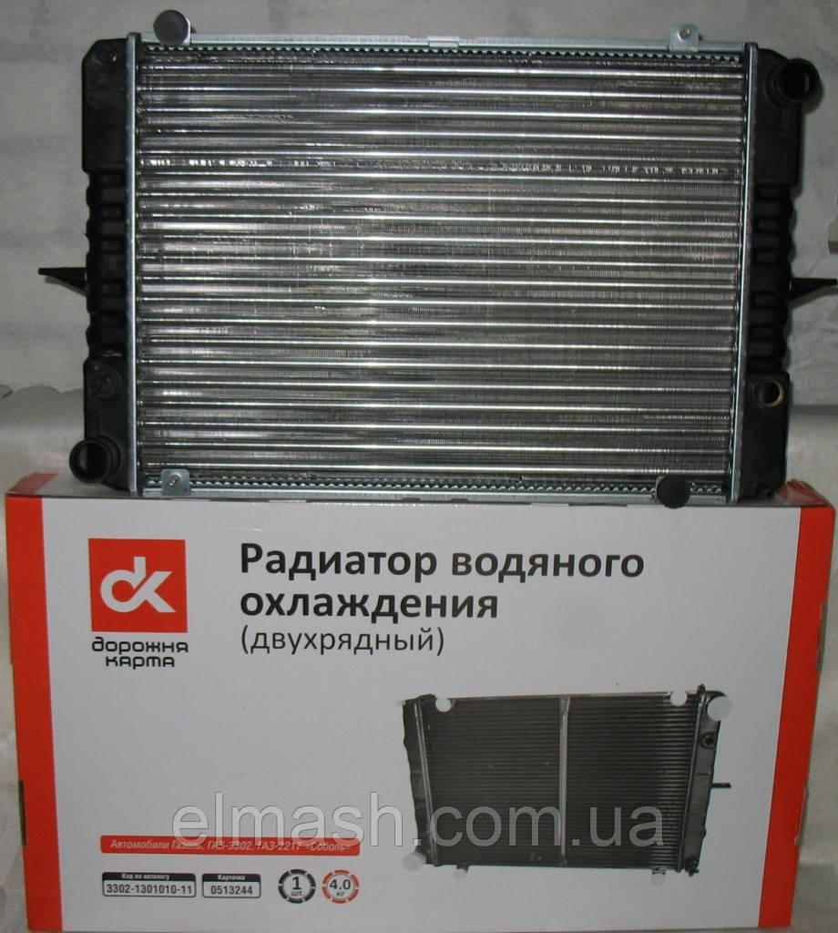 Радіатор водяного охолодження ГАЗ 3302 (з вухами) 42 мм