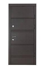 Двери бронированные Булат-95 Горизонталь венге темный