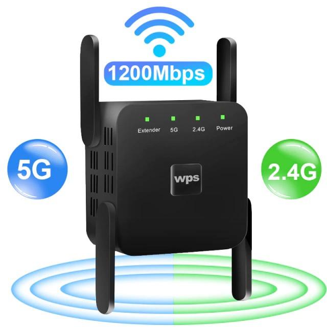 Wi-Fi підсилювач EasyIdea Wi-Fi Repeater Extender 2.4Ghz/5Ghz Black