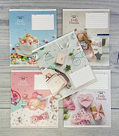 Тетрадь 12 листов, косая Pretty Princess 2933(12кл) Школярик Украина