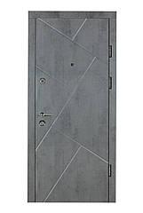 Двері броньовані Булат-95 Діагональ бетон темний/світлий