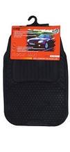 Авто килимки резинові універсальні! Килимки в салон автомобіля (комплект 4 шт.) Чорний. KCM-811