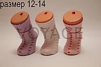Детские носки средние с хлопка в сеточку для малышей Стиль Люкс  12-14  802