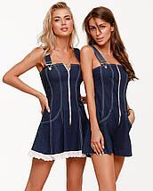 Сарафан женский джинсовый мини AniTi 543, синий, фото 2