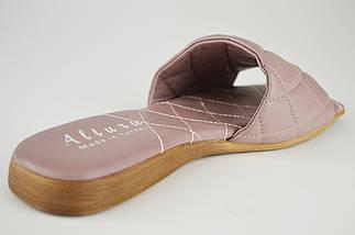 Лиловые шлепанцы женские Altura 5286 39 натуральная кожа, фото 3