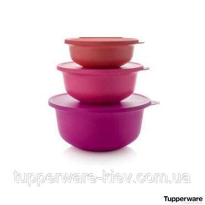 Яркий набор чаш АЛОХА 3 шт  1л / 2 л/ 4 л Tupperware купить со скидкой универсальные