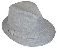 Бежевая шляпа мужская летняя льняная большого размера 59-61