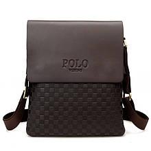 Мужская сумка через плечо Polo Videng поло Коричневая 28x22x4 5 ViPvse