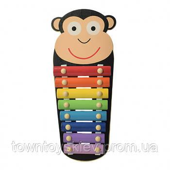 Детская игрушка Ксилофон WW-189 деревянный (Обезьяна)