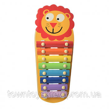 Детская игрушка Ксилофон WW-189 деревянный (Лев)