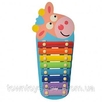 Детская игрушка Ксилофон WW-189 деревянный (Коровка)